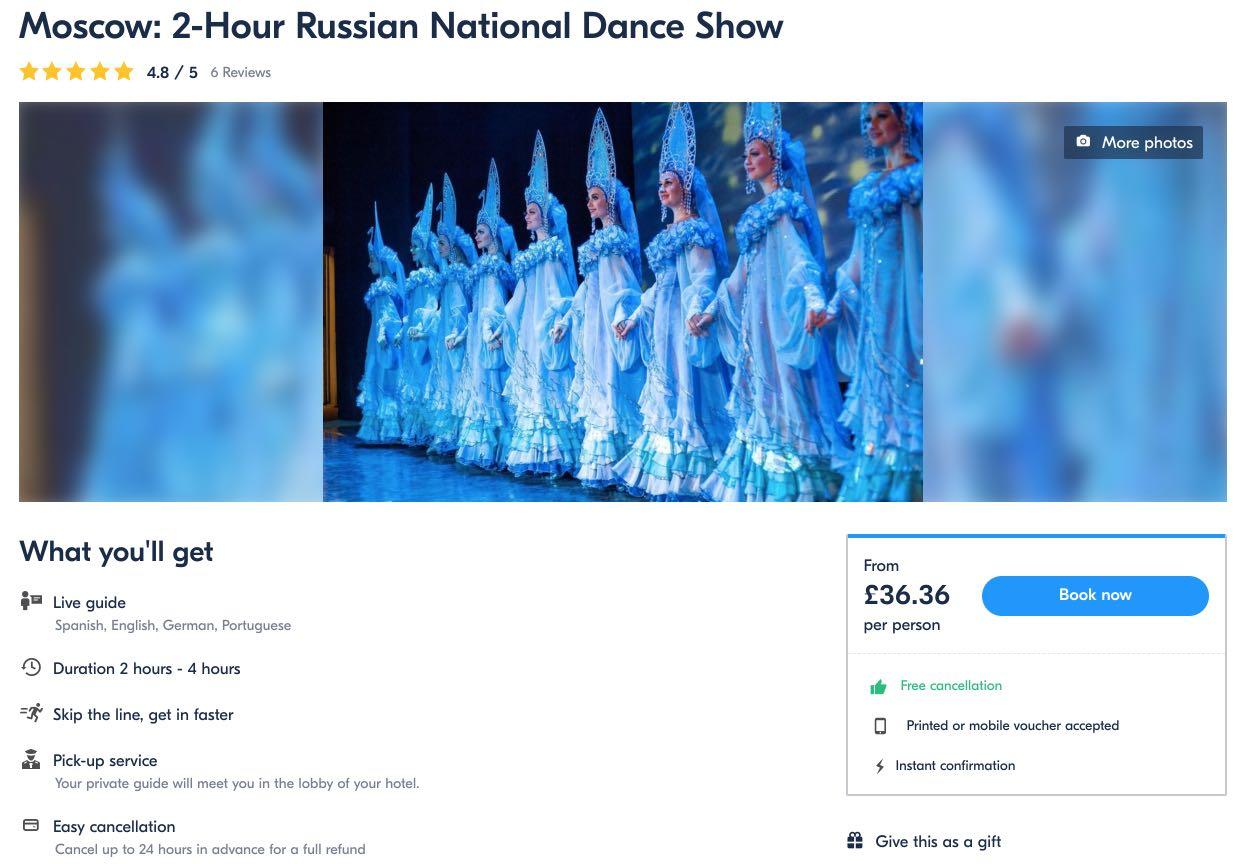 Moskevská dvouhodinová ruská národní taneční show Kostroma