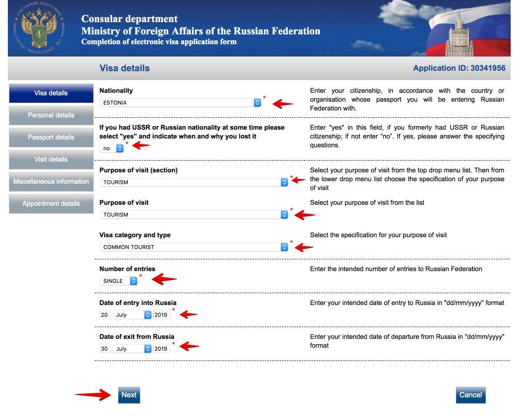 Taielik Vene viisataotluse vorm 3