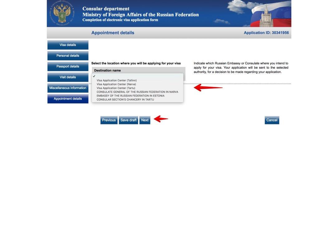 Taielik Vene viisataotluse vorm 8
