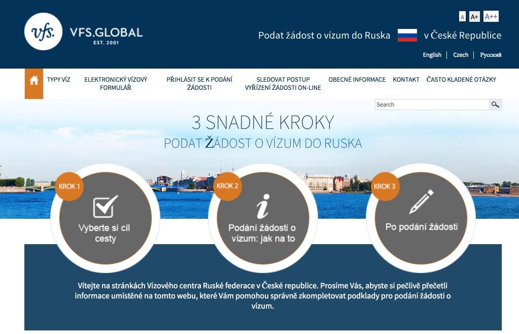 Vizoveho centra Ruske federace v Ceske republice